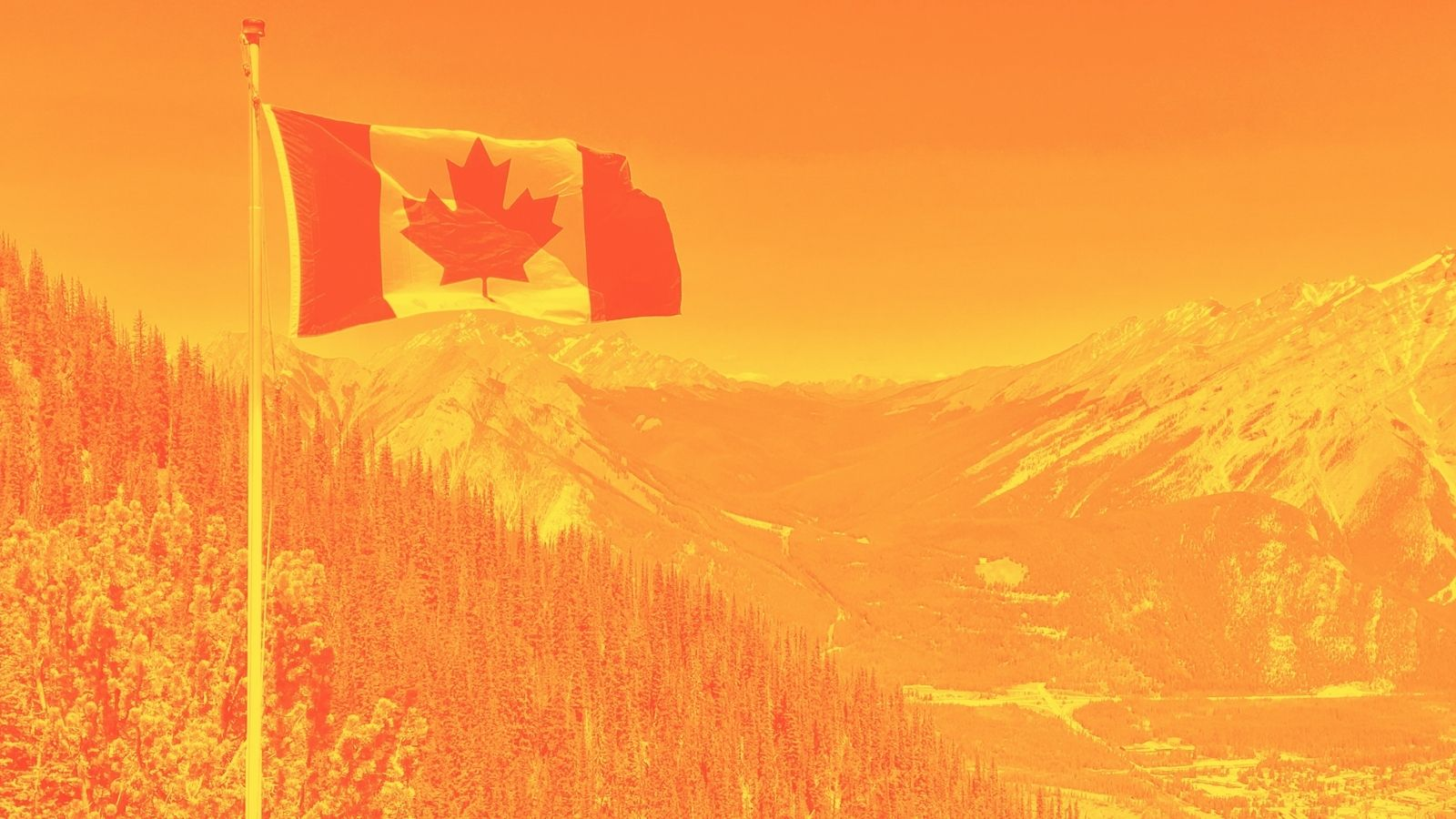 Orange Canada Day Flag